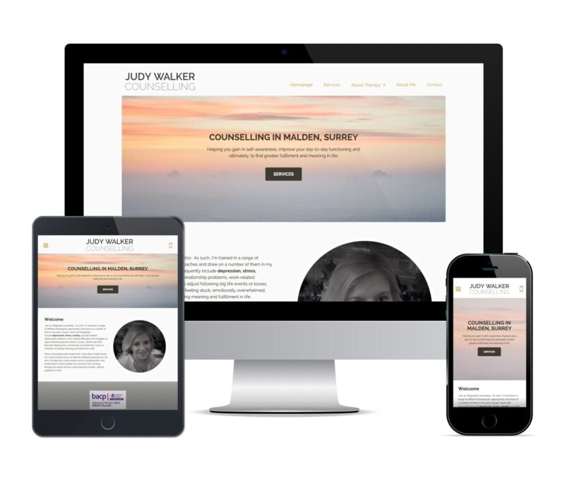 counsellor web design for judy walker